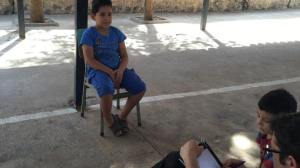 the 13 years old Syrian boy Mustafa